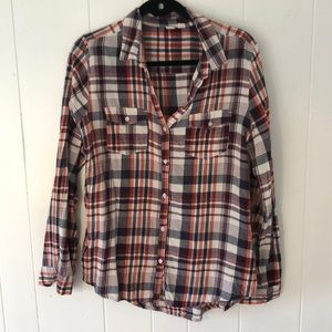 Melrose and Market plaid button down flannel